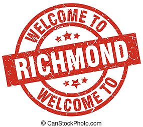 welcome to Richmond red stamp