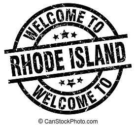 welcome to Rhode Island black stamp