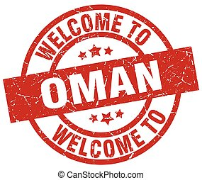 welcome to Oman red stamp