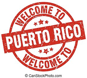 welcome to Puerto Rico red stamp