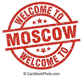 welcome to Moscow red stamp