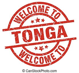 welcome to Tonga red stamp