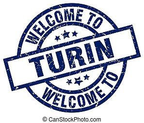 welcome to Turin blue stamp