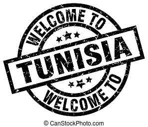 welcome to Tunisia black stamp