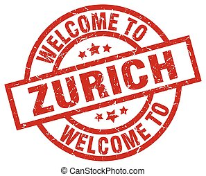 welcome to Zurich red stamp