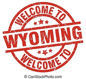 welcome to Wyoming red stamp