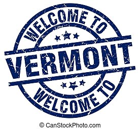 welcome to Vermont blue stamp