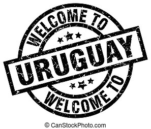 welcome to Uruguay black stamp