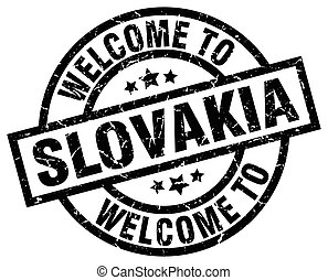 welcome to Slovakia black stamp