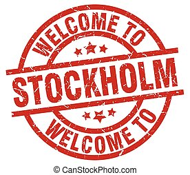 welcome to Stockholm red stamp