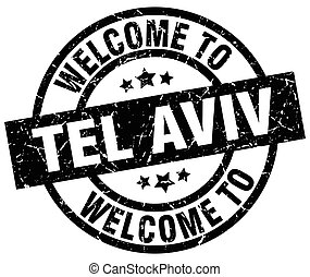 welcome to Tel Aviv black stamp