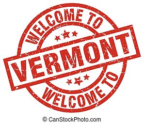 welcome to Vermont red stamp