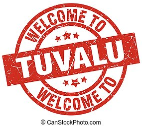 welcome to Tuvalu red stamp