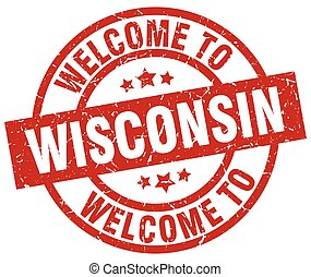 welcome to Wisconsin red stamp