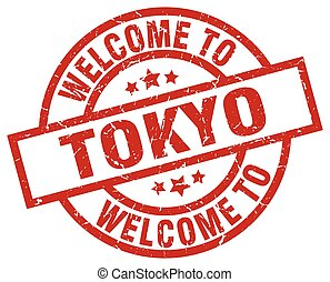 welcome to Tokyo red stamp