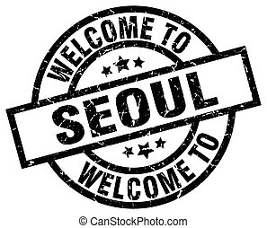 welcome to Seoul black stamp