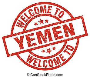 welcome to Yemen red stamp
