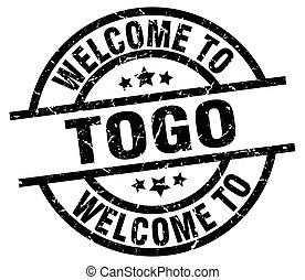 welcome to Togo black stamp