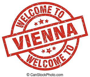 welcome to Vienna red stamp