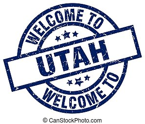 welcome to Utah blue stamp