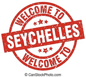 welcome to Seychelles red stamp