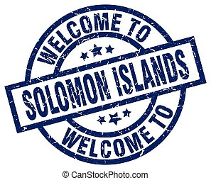 welcome to Solomon Islands blue stamp