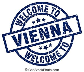 welcome to Vienna blue stamp