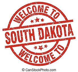 welcome to South Dakota red stamp