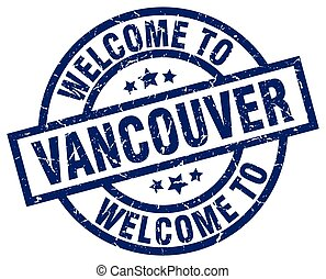 welcome to Vancouver blue stamp