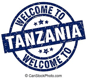 welcome to Tanzania blue stamp