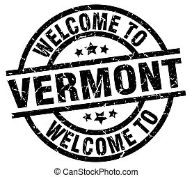 welcome to Vermont black stamp