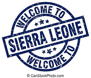 welcome to Sierra Leone blue stamp
