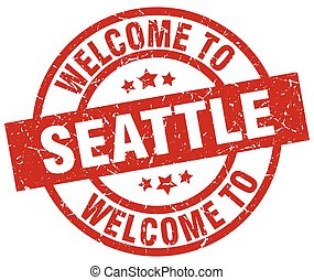 welcome to Seattle red stamp