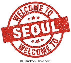 welcome to Seoul red stamp