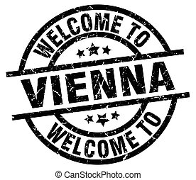 welcome to Vienna black stamp