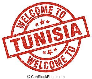 welcome to Tunisia red stamp