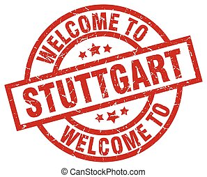 welcome to Stuttgart red stamp