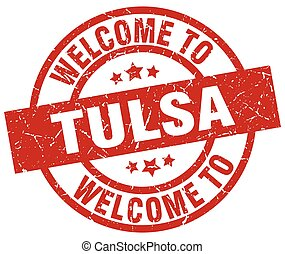 welcome to Tulsa red stamp