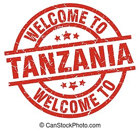 welcome to Tanzania red stamp