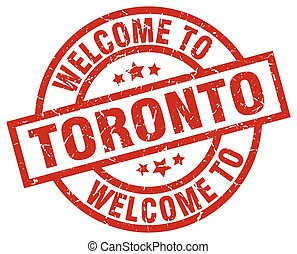 welcome to Toronto red stamp