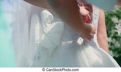 Bride Wears a Dress