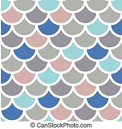 fish squama - Traditional Japanese seamless pattern colored...