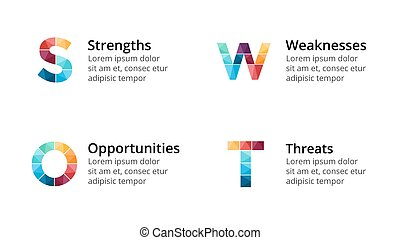 Vector circle arrows infographic, cycle diagram, graph, presentation chart. Business concept with 4 options, parts, steps, processes. Slide template. SWOT analyze.