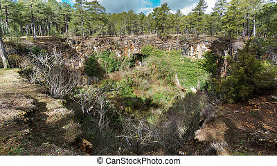 Girlfriend Sinkhole in Cuenca - Wide angle view of...
