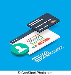 Vector login username and password internet payment concept...