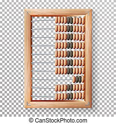 Abacus Set Vector. Realistic Illustration Of Classic Wooden...