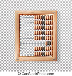 Abacus Set Vector. Classic Wooden Old Abacus. Arithmetic...