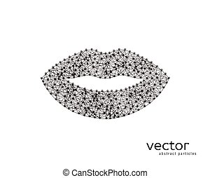 Abstract vector illustration of lips. - Abstract vector...