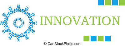 Innovation Dotted Gear Green Blue Horizontal