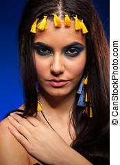 Beauty portrait of gorgeous woman